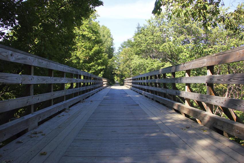 greenway trail over a bridge